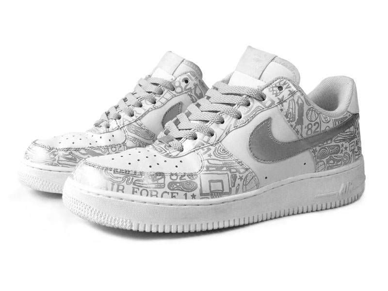 meet cc33e d9424 Nike Air Force 1 Low Silver on White
